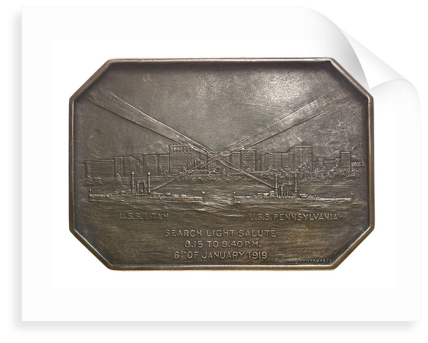 Medal commemorating the dedication of Joan of Arc Park, 1919; reverse by Tiffany & Co.