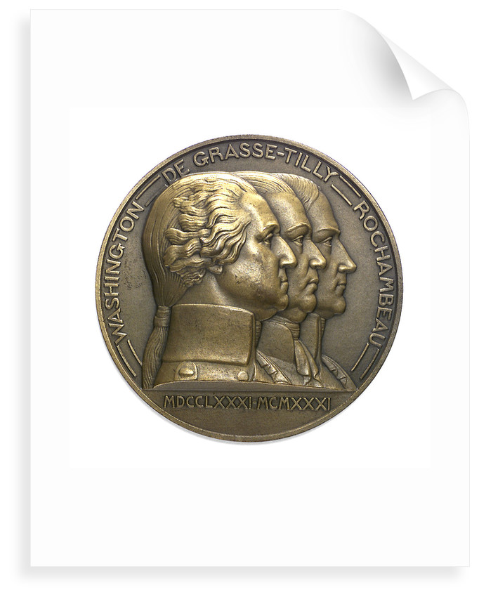 Medal commemorating the 150th anniversary of the capitulation of York Town, 1931; obverse by Pierre Turin