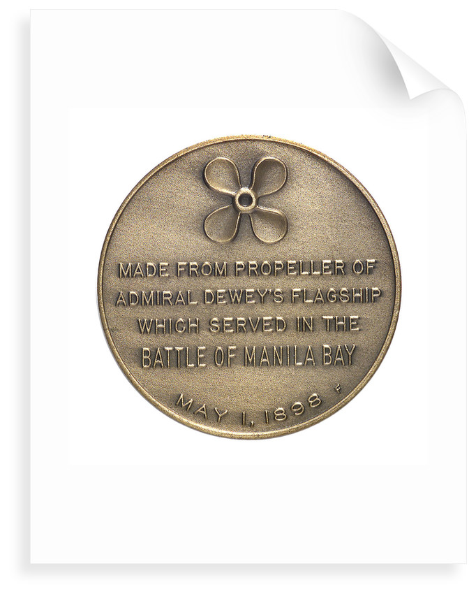 Medal commemorating the Battle of Manila Bay and USS 'Olympia'; 60th anniversary, 1958; reverse by unknown