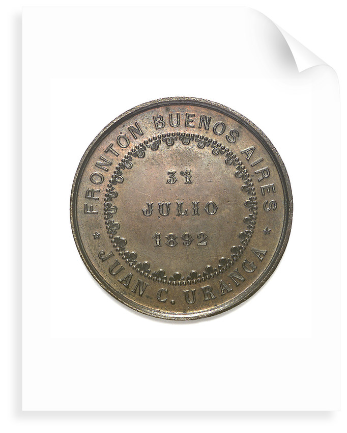 Medal commemorating the national subscription for the torpedo boat 'Rosales'; reverse by unknown
