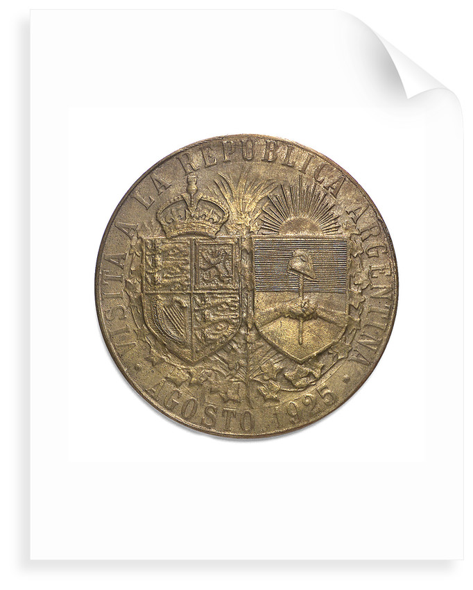Medal commemorating the visit of  the Prince of Wales to Argentina, 1925; reverse by J.M. Lubary