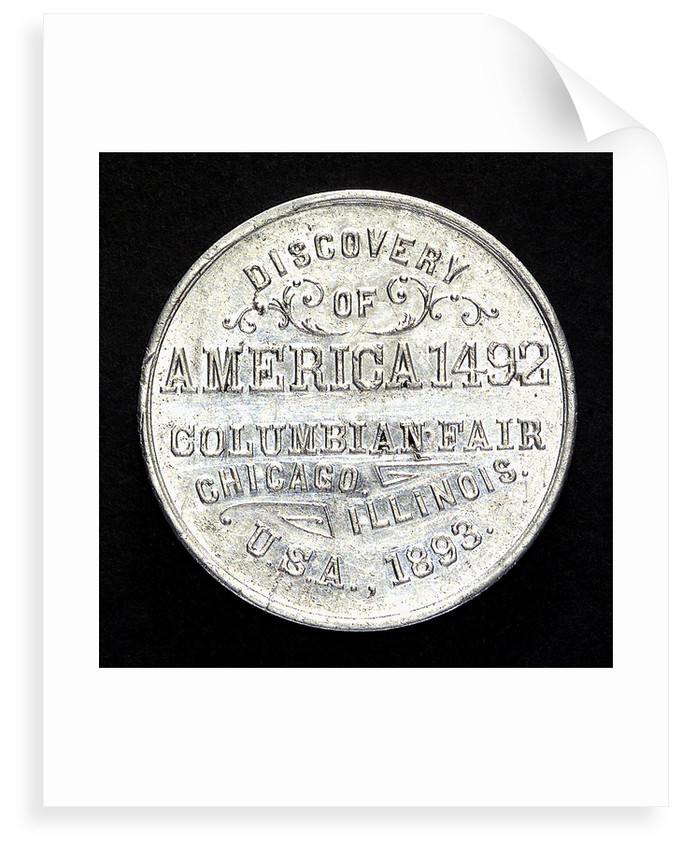 Medal commemorating Christopher Columbus (1451-1506) and the discovery of America; reverse by unknown