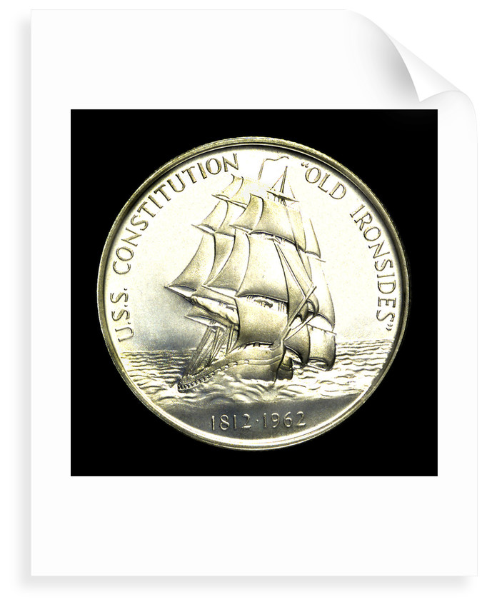 Medal commemorating the USS 'Constitution'; reverse by Heraldic Art