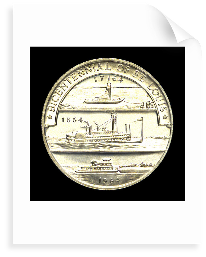 Medal commemorating the bicentennial of St Louis, 1964; reverse by Heraldic Art