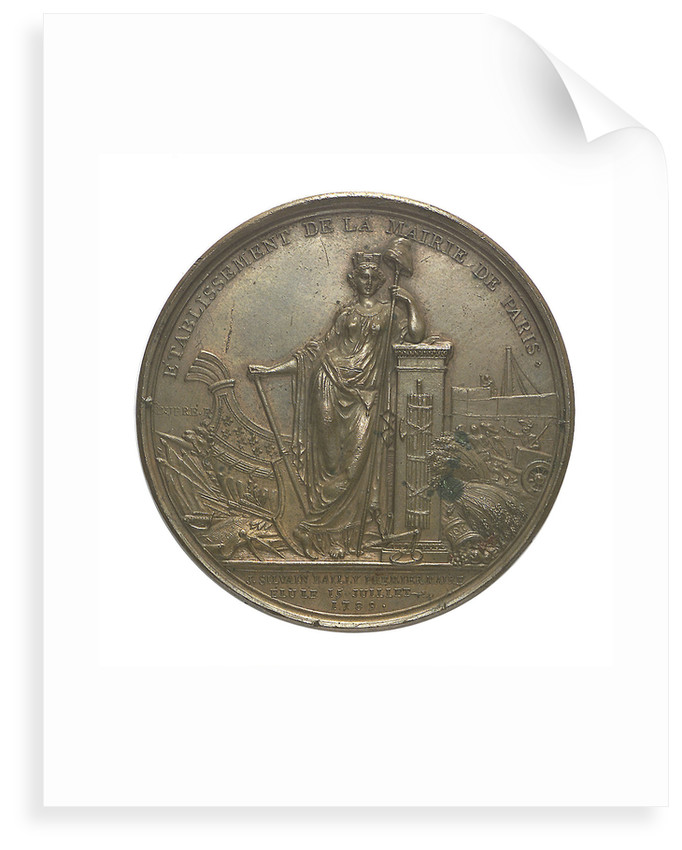 Medal commemorating Louis XVI and the City of Paris; reverse by P.S.B. Duvivier