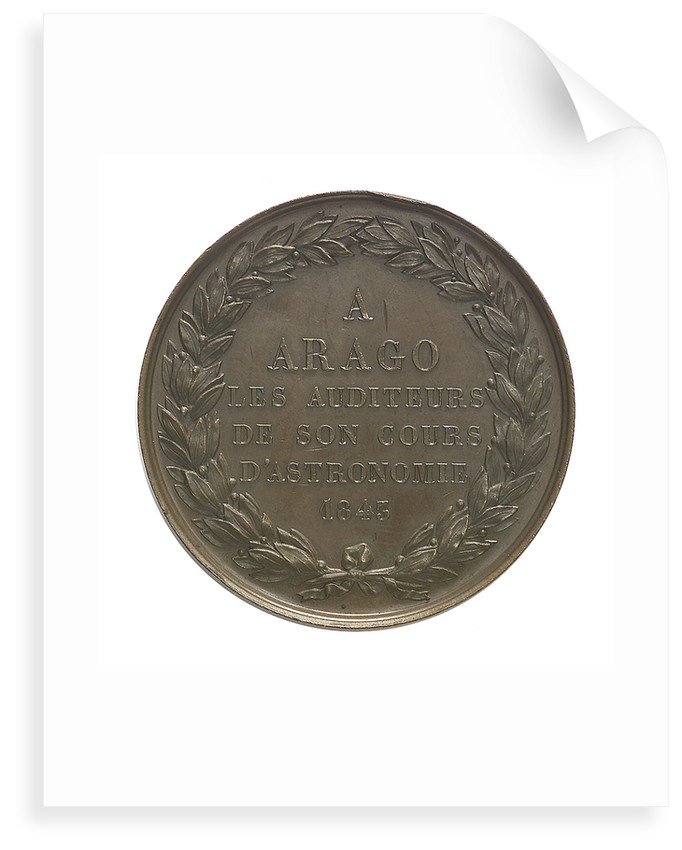 Commemorative medal depicting Dominique Francois Jean Arago (1786-1855); reverse by A.F.A. Bovy