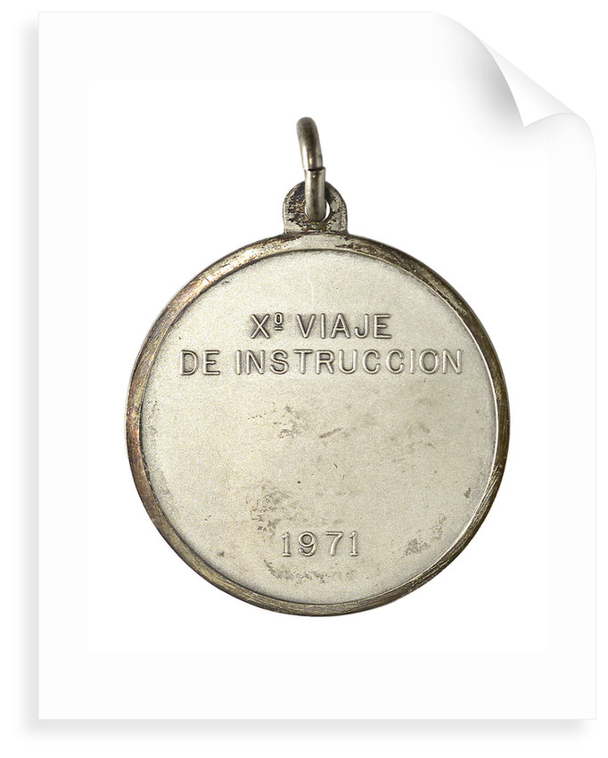 Medal commemorating the Argentinian Training Cruiser 'La Argentina' 10th voyage, 1971; reverse by unknown