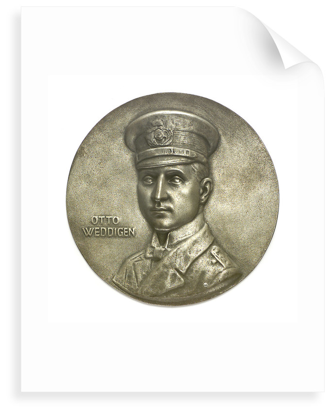 Medal commemorating Captain-Lieutenant Otto von Weddigen (1882-1915); obverse by H. Bendorff