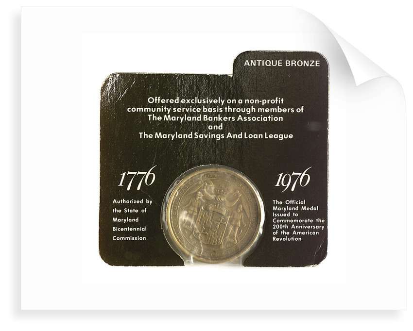 Medal commemorating the bicentenary of the American Revolution, 1976; reverse by unknown