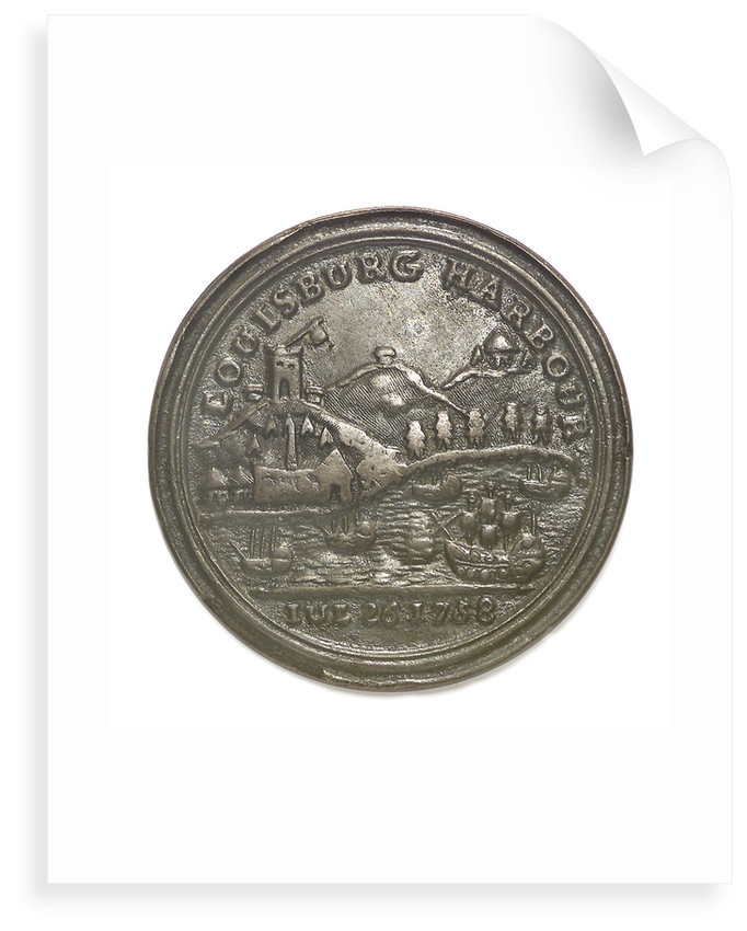 Medal commemorating Admiral Edward Boscawen (1711-1761) and the capture of Louisbourg, 1758; reverse by unknown