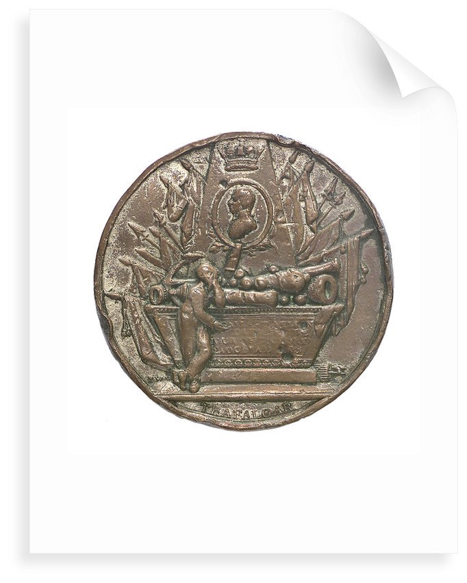 Medal commemorating Vice-Admiral Horatio Nelson (1758-1805); obverse by Peter Wyon