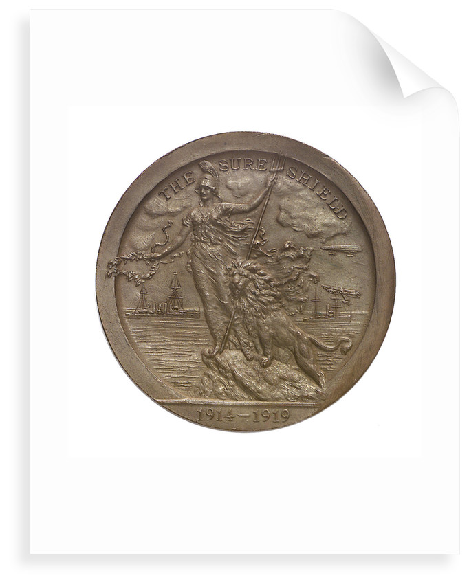 Medal of  the Sea Services Commemoration, 1919; obverse by Heming & Co.