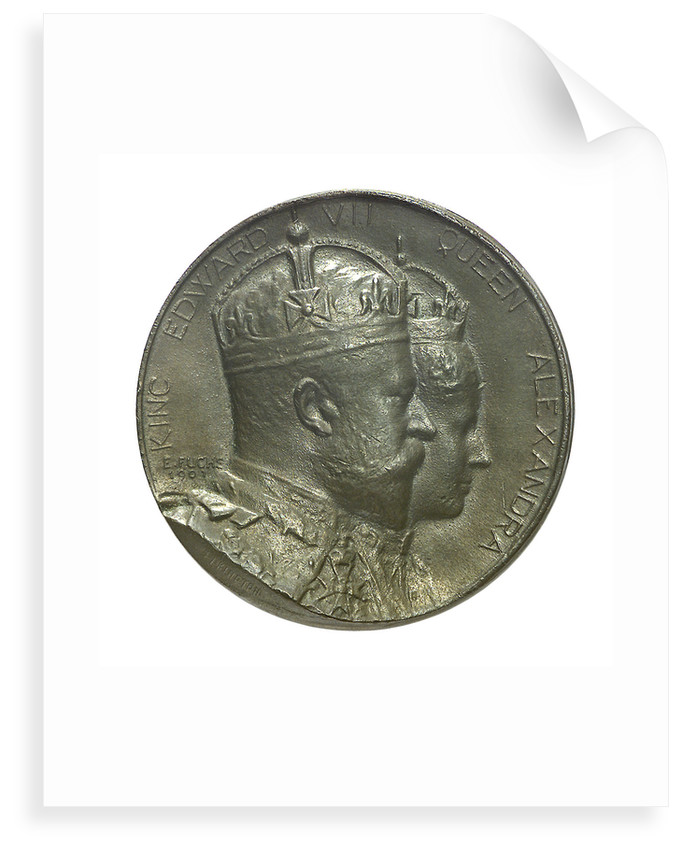 Medal commemorating the Coronation of Edward VII, 1902; obverse by Emil Fuchs