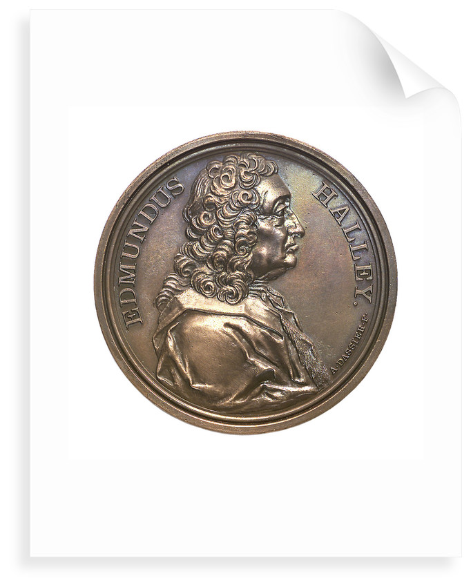 Medal commemorating the return of Halley's Comet 1985-1986; obverse by A. Dassier