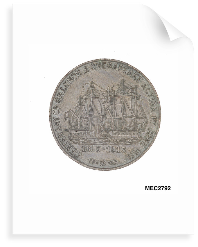Medal commemorating the centenary of the 'Shannon' and 'Chesapeake' action, 1913 by C & S Co.