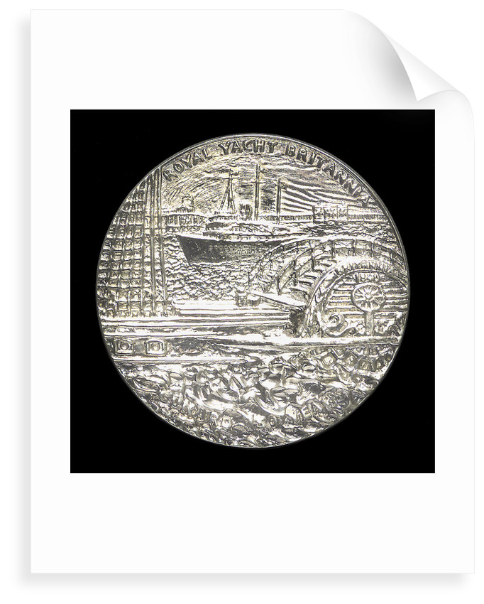 Medal commemorating the 150th anniversary of Cunard Shipping Company; reverse by Jacqueline Steiger