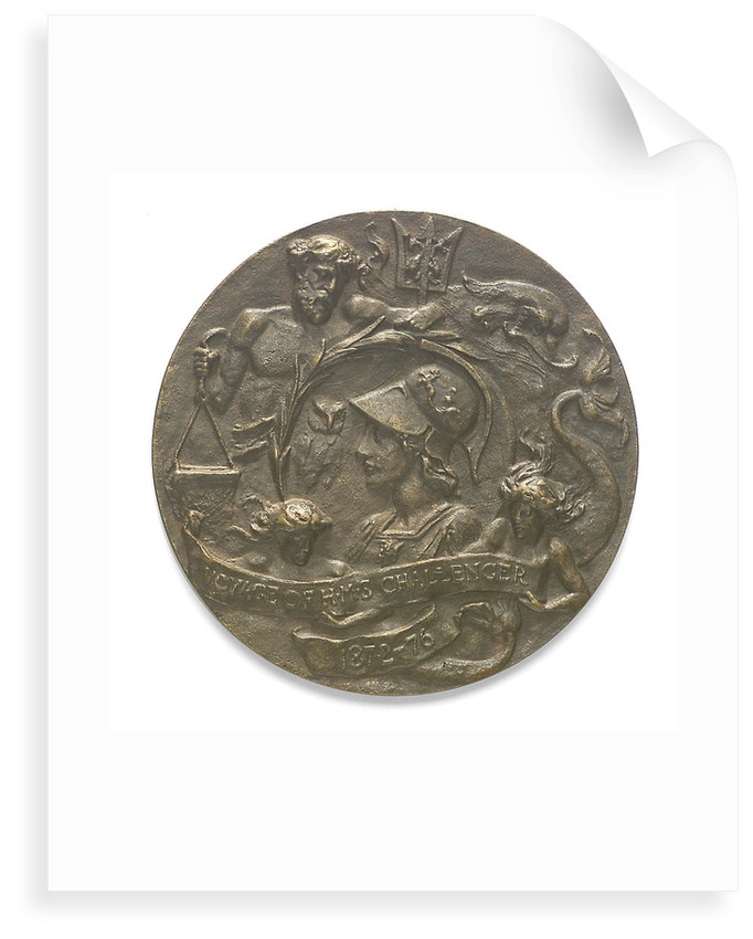 Medal commemorating the voyage of HMS 'Challenger' 1872-1876; reverse by William Birnie Rhind