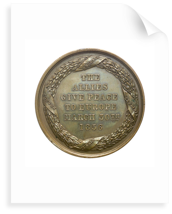 Medal commemorating the fall of Sebastopol, 1855; reverse by unknown