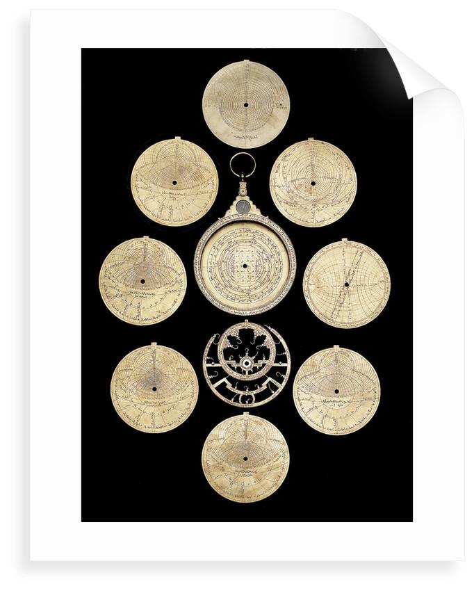 Astrolabe: dismounted obverse by Muhammad ibn Ahmad al-Battuti