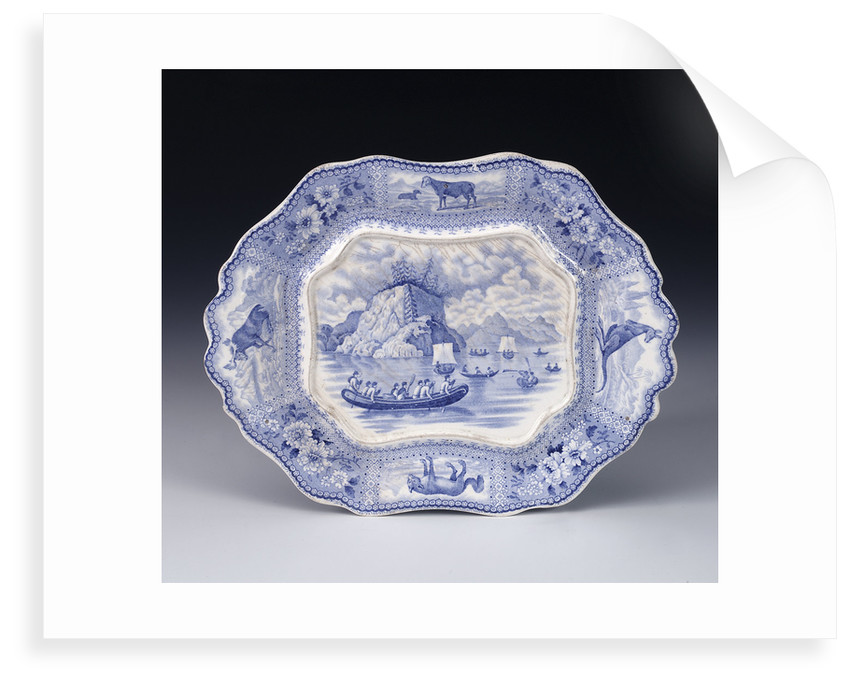 Tureen in 'Arctic Scenery' pattern by unknown