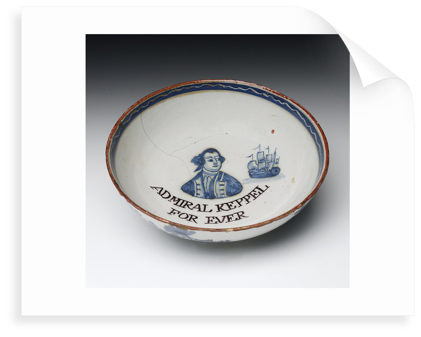Lambeth delftware bowl by unknown