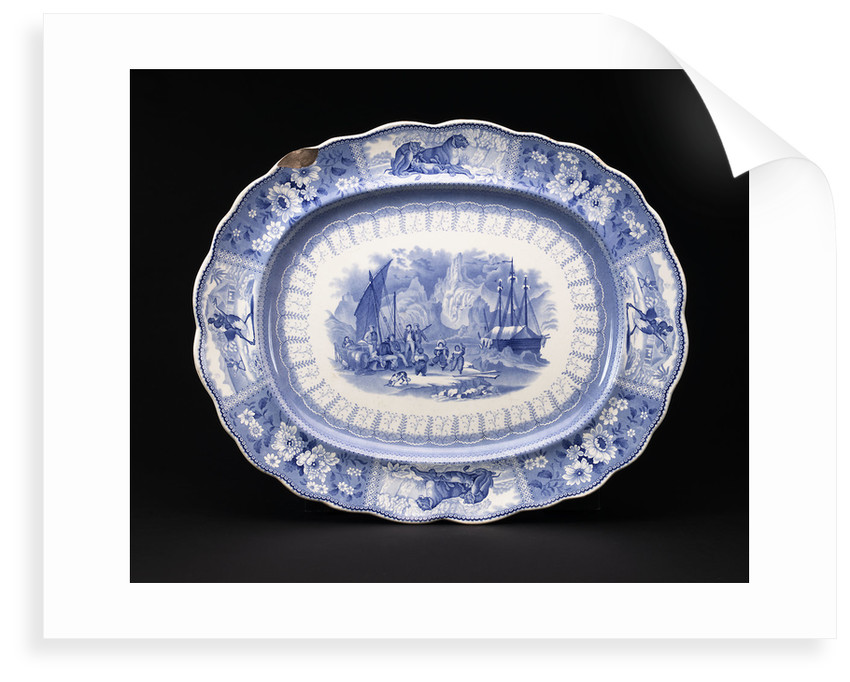 Meat dish in 'Arctic Scenery' pattern by unknown