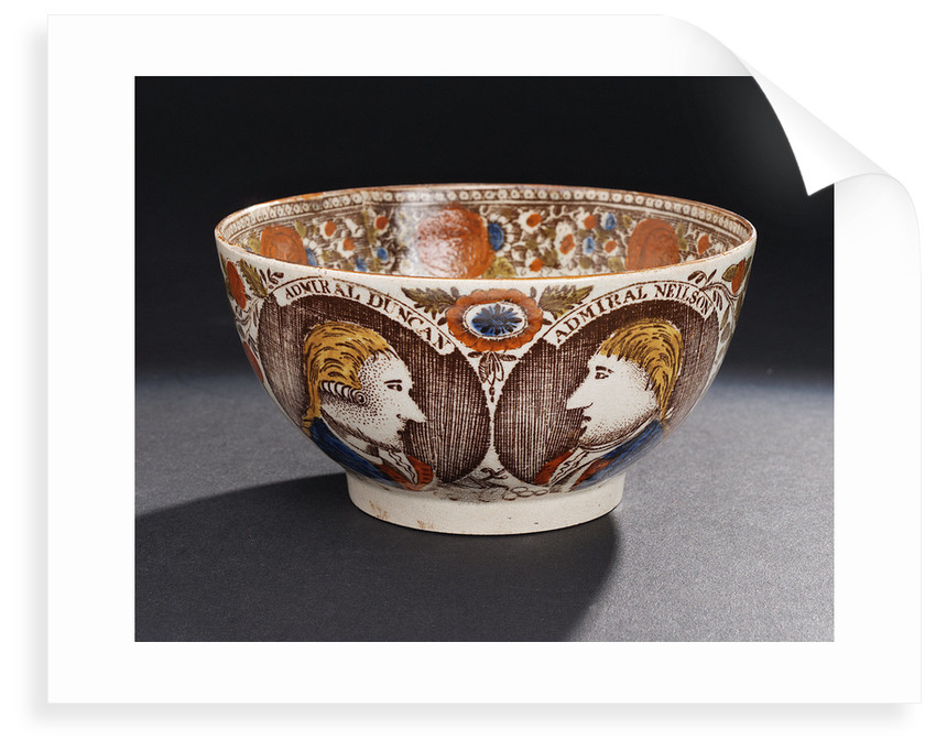 Bowl with a portrait of Admiral of the Fleet, Adam Duncan (1731-1804) by unknown