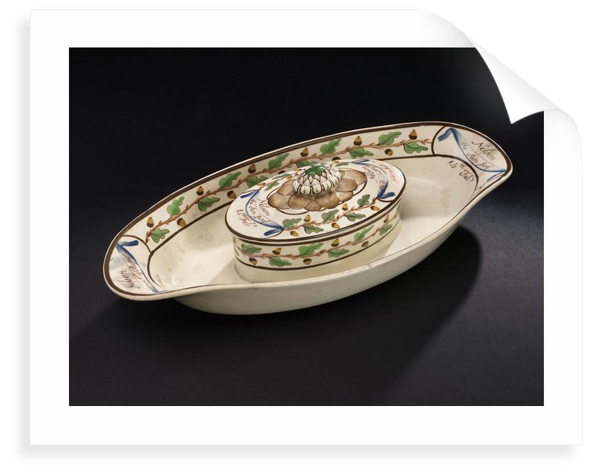 Creamware dish by Wilson