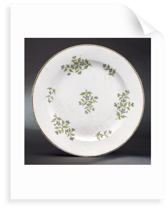 Plate, part of a tea service reputedly belonging to Vice-Admiral Horatio Nelson (1758-1805) by Minton