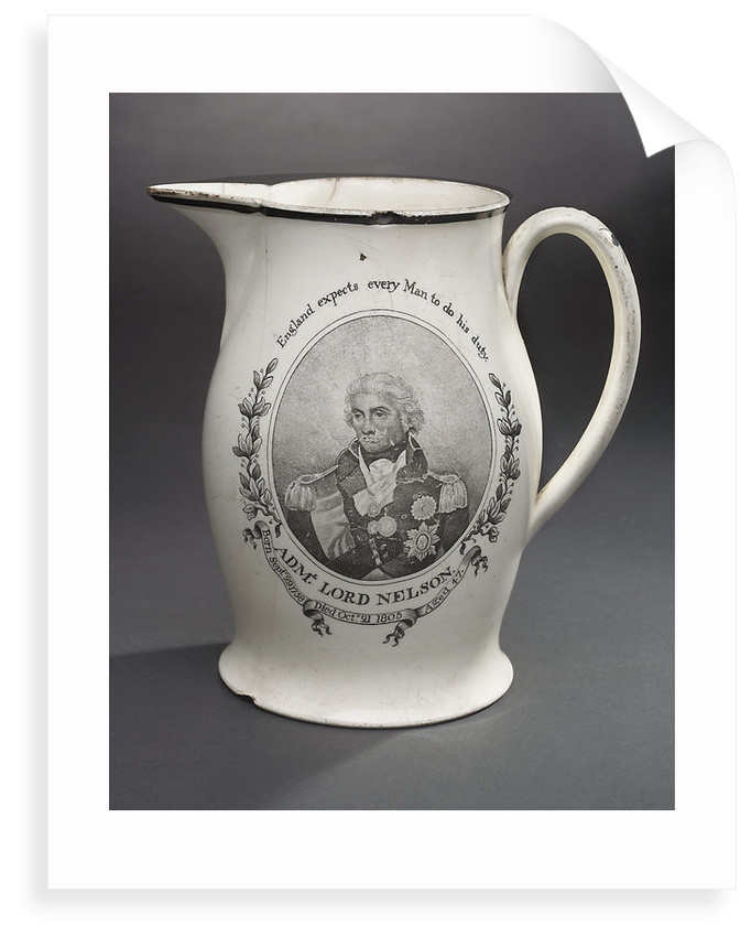 Horatio Nelson creamware jug by unknown