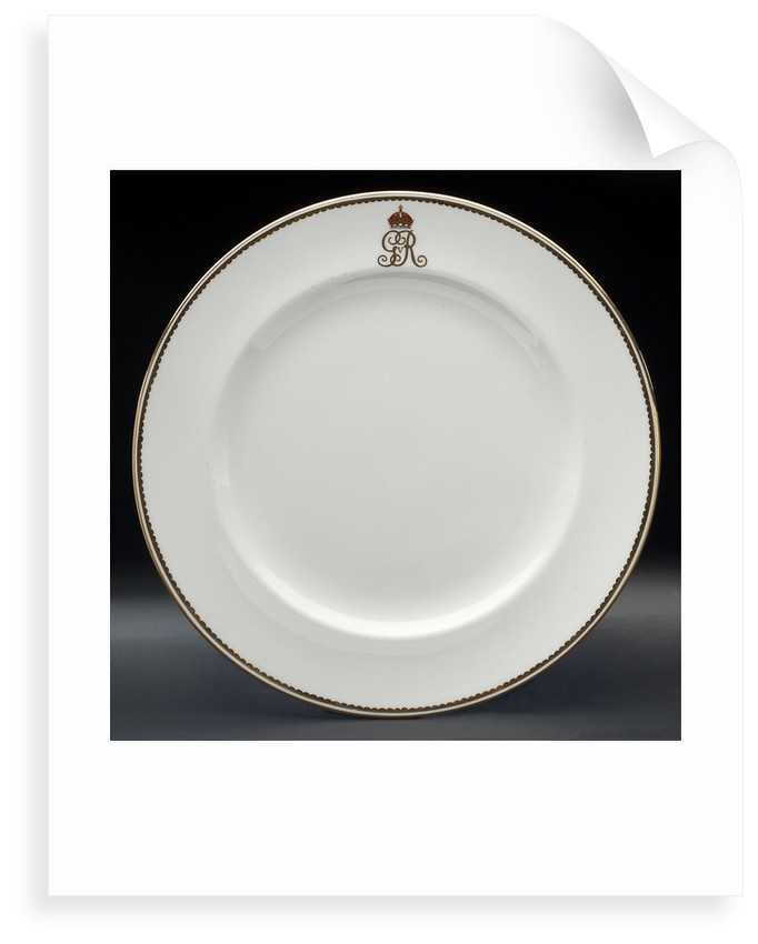 Plate used on HMY 'Victoria and Albert' (1899) by Royal Crown Derby Porcelain Co