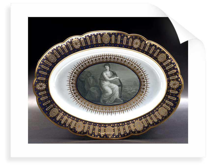 Dish, part of a service belonging to HRH the Duke of Clarence, later William IV (1765-1837) by Thomas Flight