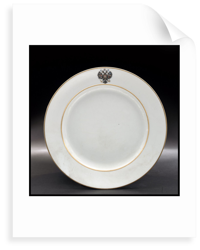 Plate from the Russian Imperial yacht 'Standart' (1896) by Russian Imperial Porcelain Factory