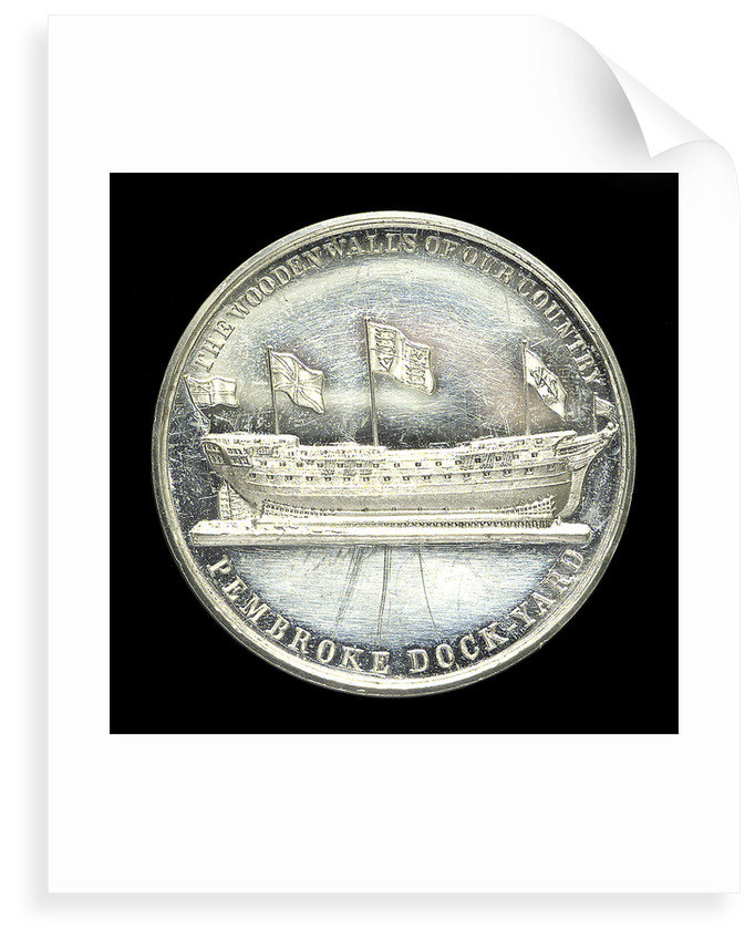 Medal commemorating the opening of the Pembroke Dock National School, 24 June 1844; reverse by unknown
