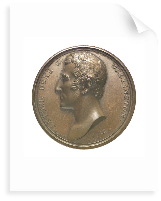 Commemorative medal depicting Duke of Wellington (1769-1852), Chancellor of Oxford University 1834; obverse by T. Webb