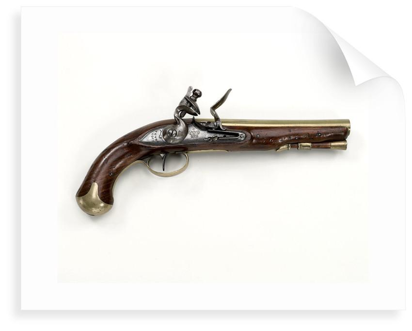 Brass Barrel pistol by H. Nock, 1796 by Henry Nock