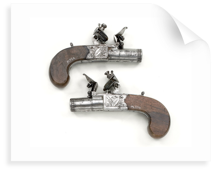 Flintlock pistols by Holmes