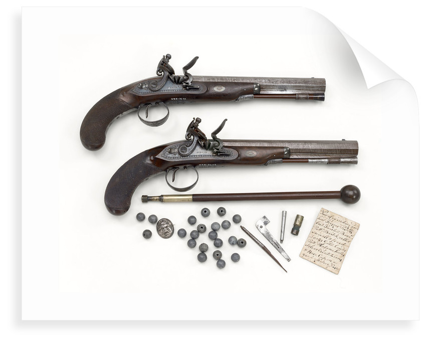 Duelling pistols by H. Nock