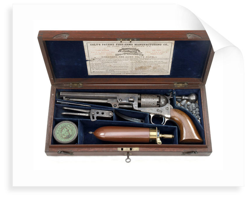 Percussion revolver by Samuel Colt