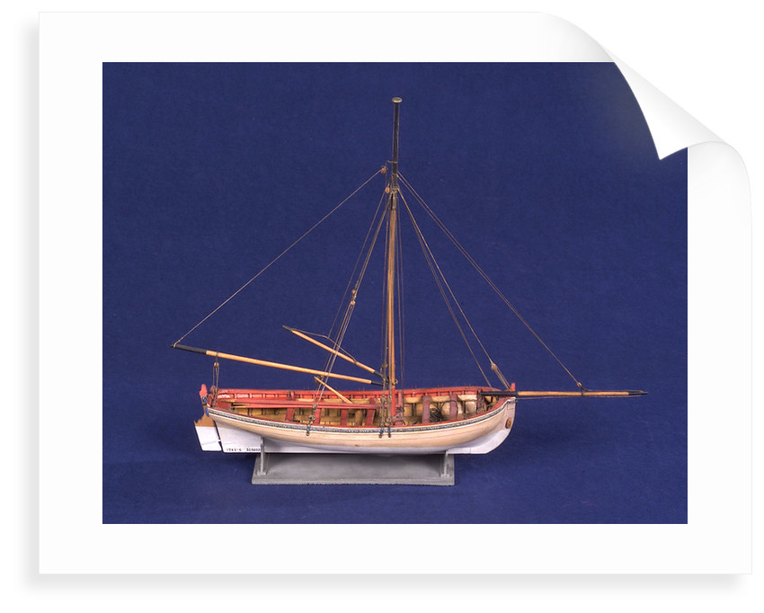 Ship's longboat; 'Medway', starboard broadside by unknown