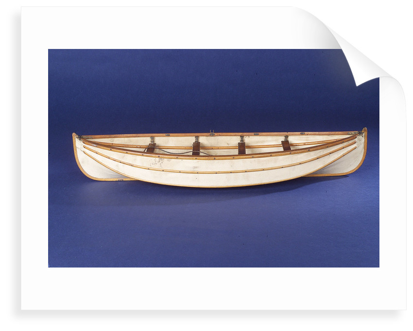 Full hull model, collapsible lifeboat, broadside by unknown