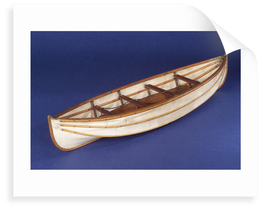 Full hull model, collapsible lifeboat by unknown