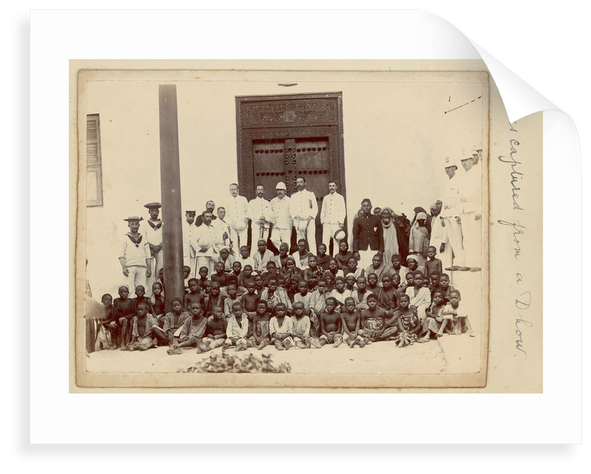 'Slaves captured from a dhow' (Arab sailing vessel) by unknown