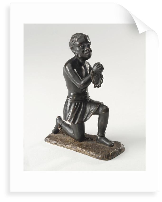 Kneeling figure of an enslaved African by unknown
