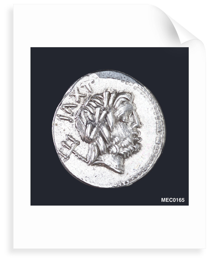 Denarius depicting head of Neptune by unknown
