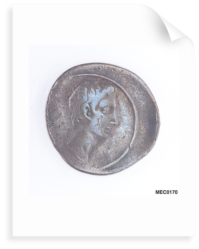Denarius depicting Emperor Augustus by unknown