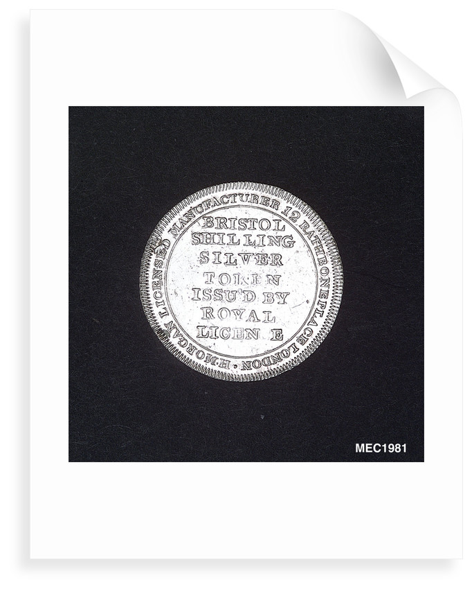 Bristol shilling token by unknown