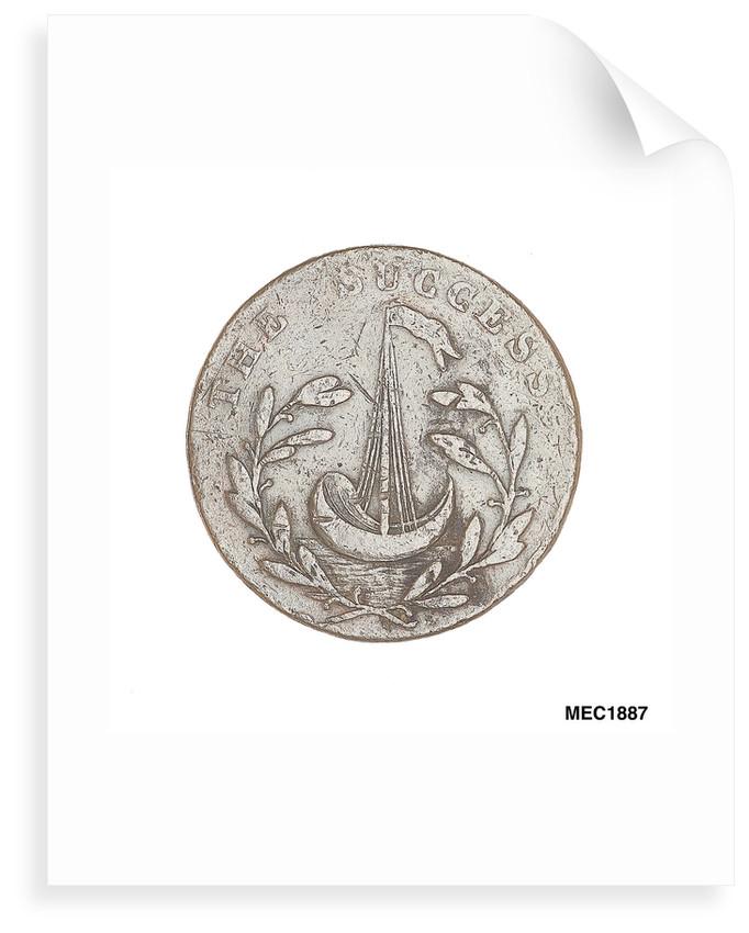 Romney halfpenny token by T. Wyon