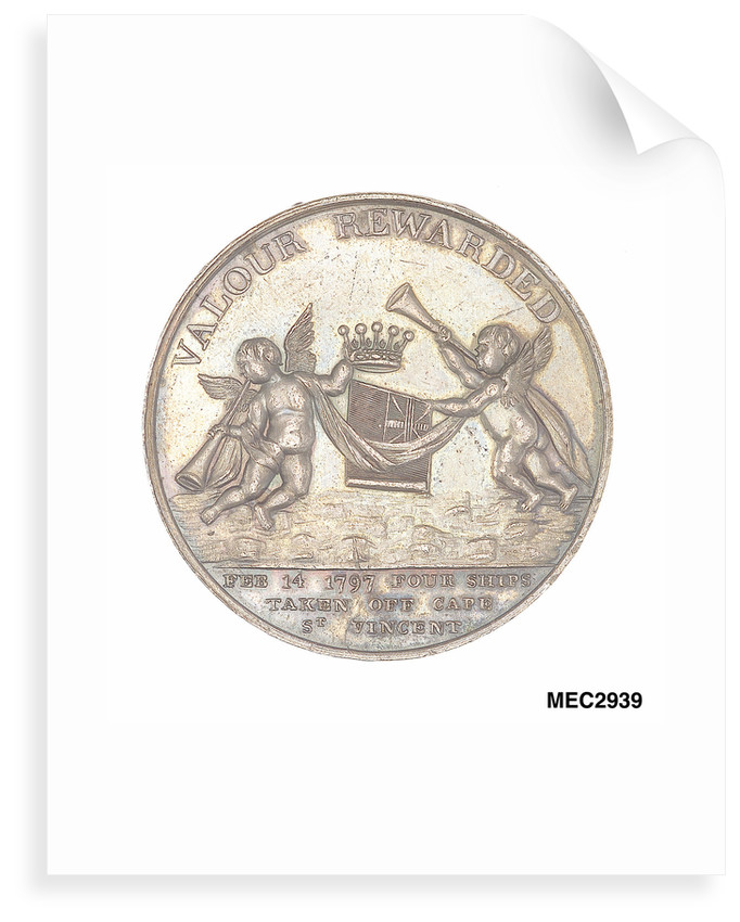Medal commemorating John Jervis, Earl St Vincent (1735-1823) and the battle of Cape St Vincent, 1797 by unknown
