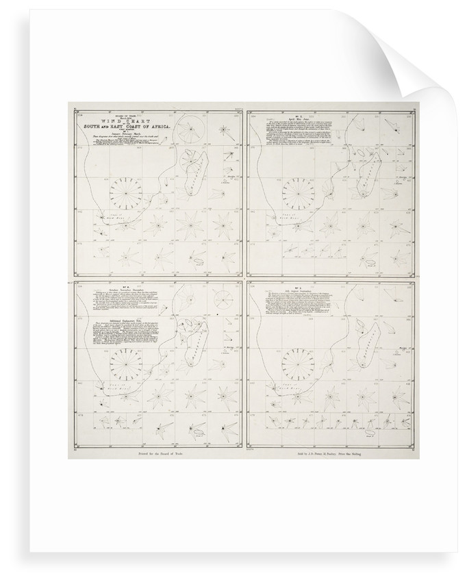 Wind chart of the south and east coast of Africa by Board of Trade